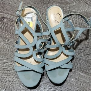143 Girl strappy wedges